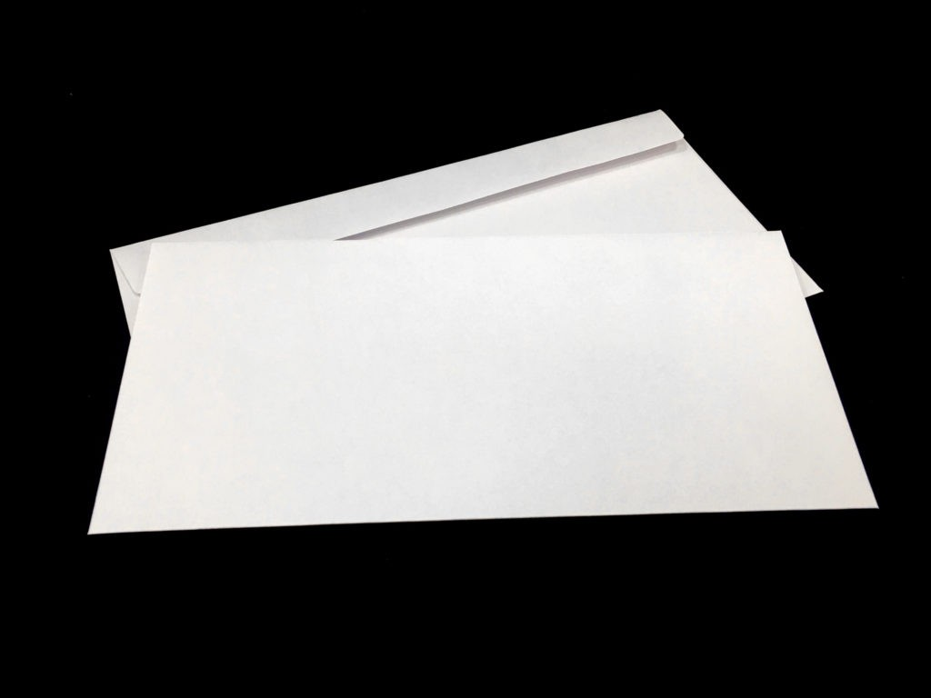 Koperta DL 90 g, koperta 100 g, koperta biała pod nadruk